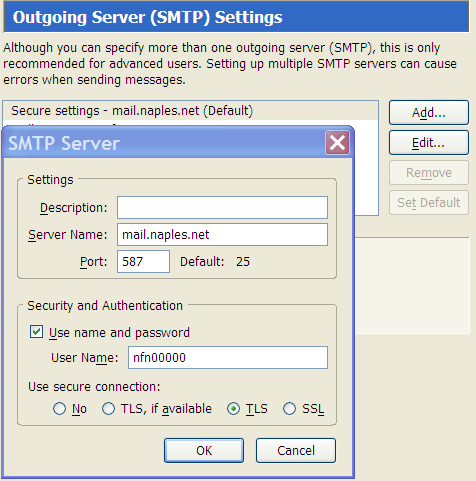 Secure SMTP Servers